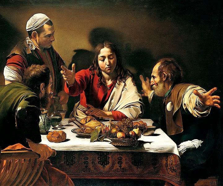 A Ceia em Emaús - Caravaggio e suas principais pinturas ~ O gênio rebelde