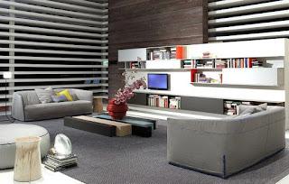 sala sofá color gris