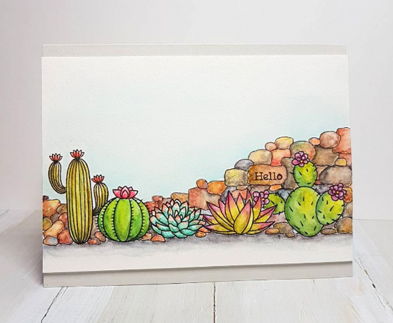 Laina  Lamb Design Sweet Succulents stamp set - Rowena M. #mftstamps
