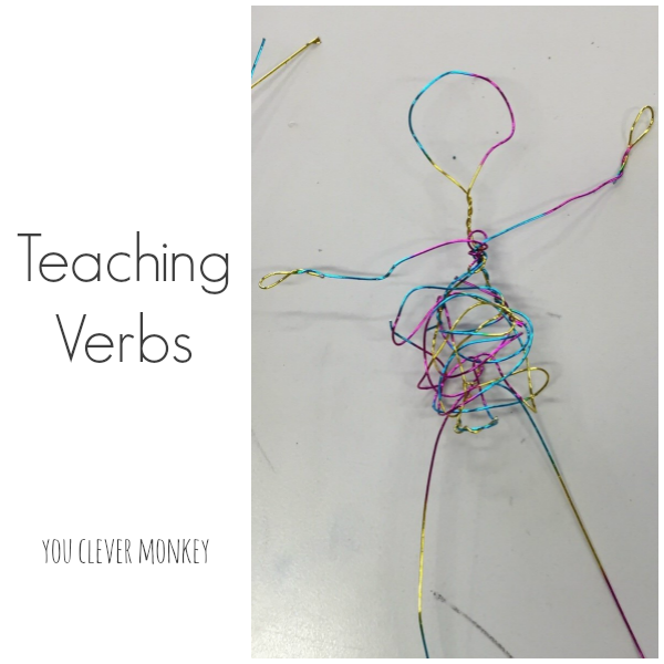 Teaching Verbs - ideas for teaching parts of speech to preschoolers in hands on ways they will understand   you clever monkey
