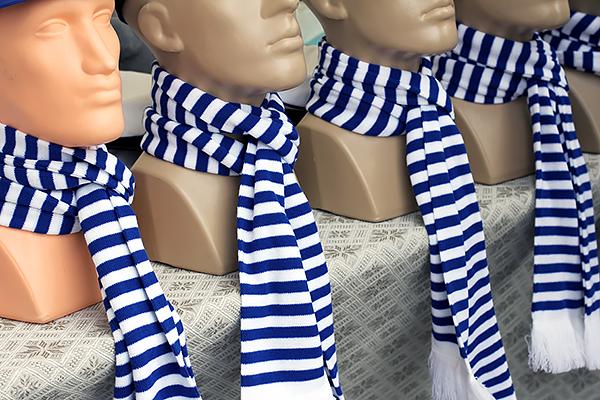 striped scarfs