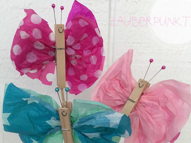 Seidenpapier, schmetterlinge, DIY auch für Kinder Tutorial