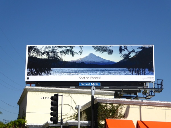 Shot on iPhone 6 snowy mountain billboard