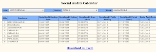 social audit calendar