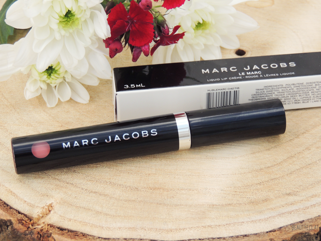 revue avis test marc jacobs le marc liquid lip creme rouge a levres liquide truth or bare swatch revue review