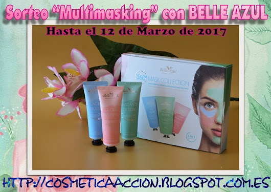 "¡SORTEO – un kit completo de multimasking ""360º Mask Collection"" de BELLE AZUL"