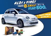 Logo ''Aldi e Vinci'': in palio migliaia di prodotti, buoni spesa da 10 e fino a 500€ e 2 Fiat 500