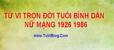 Tu Vi Tron Doi Tuoi Binh Dan Nu Mang 1926 1986