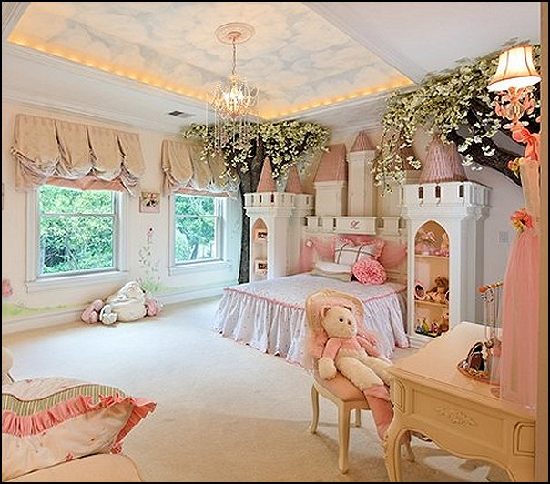 Decorating theme bedrooms maries manor theme bed for Princess themed bed