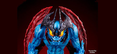 Mondo Exclusive Devilman Blue Variant Vinyl Figure by Mike Sutfin x Unbox Industries