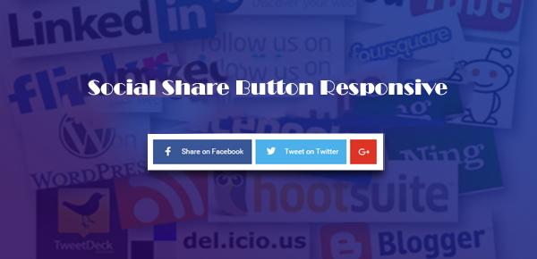 Membuat Social Share Button Responsive Tanpa JavaScript