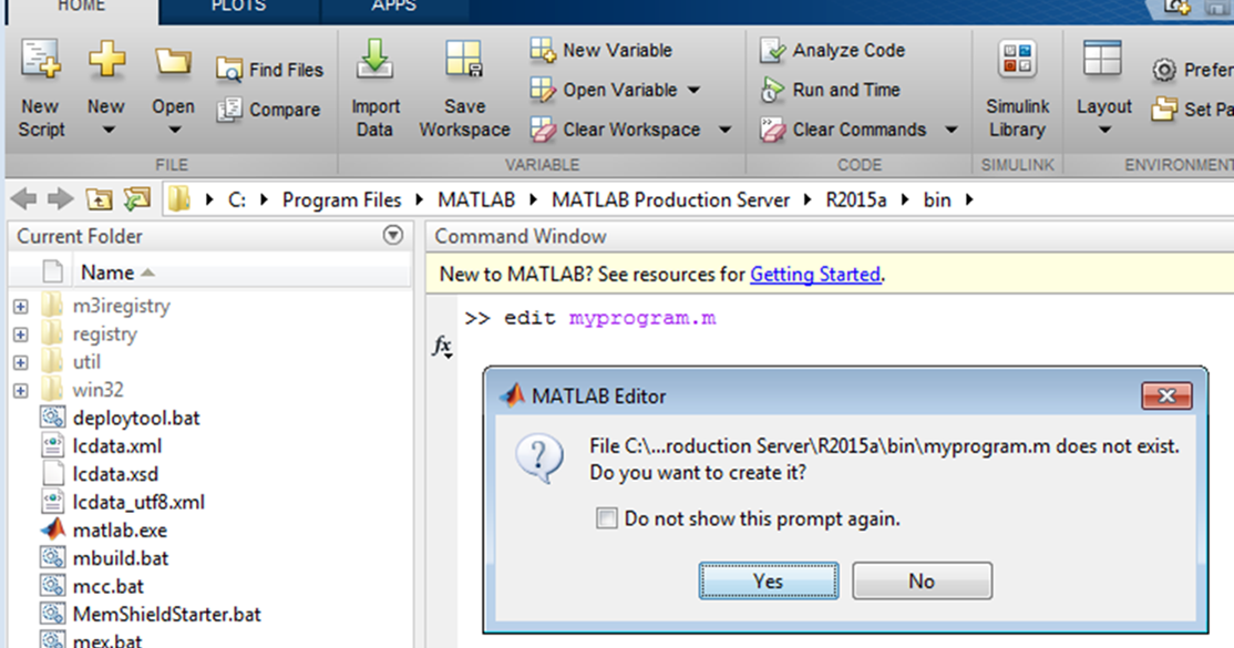how to set scripts in matlab