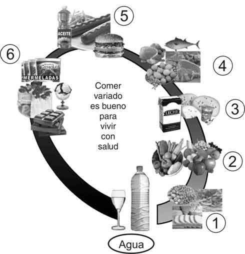 Mi Sala Amarilla: Pirámide alimenticia y Óvalo nutricional ...