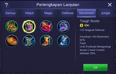 Tough Boots Mobile Legends