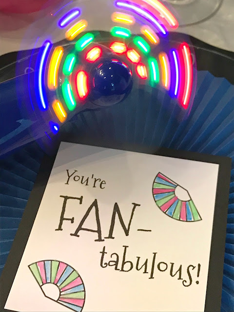 You are FANtabulous!  Fan printables to attach to a fan.