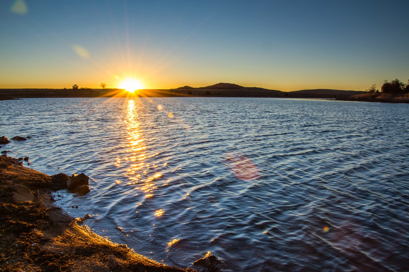 Lake Elmer Thomas Sunrise, Wichita Mountains Wildlife Refuge