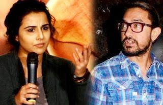 Vidya Balan reacts for called her female Aamir Khan
