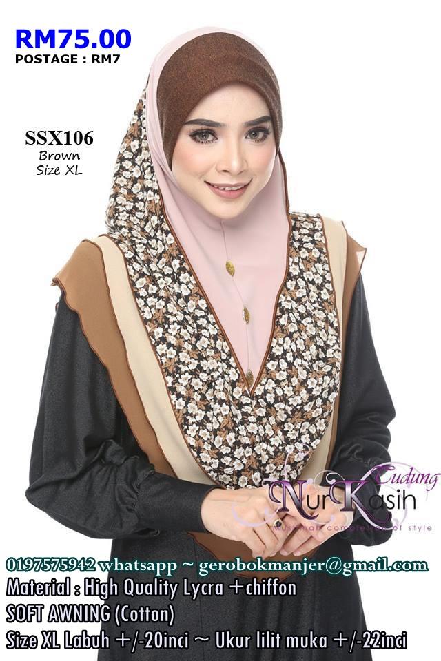 TUDUNG SHIBA NURKASIH SOFT AWNING SAIZ XL