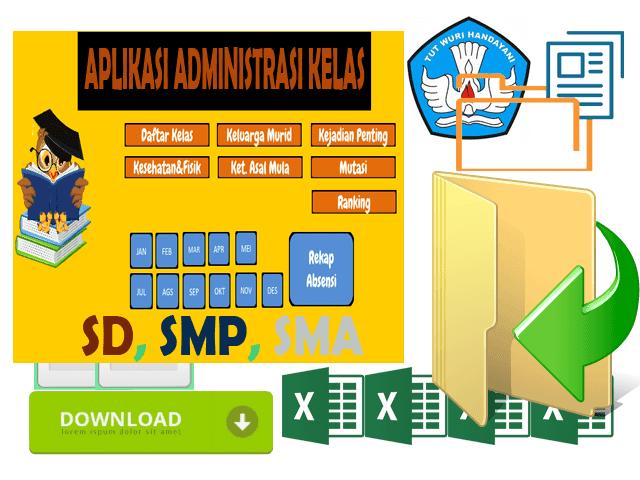 Aplikasi Administrasi Guru Kelas Format Excel