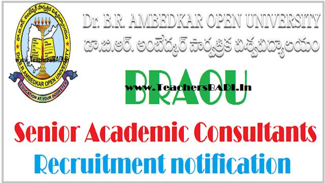 BRAOU Senior Academic Consultants, Senior Consultants, Academic Consultants, Consultants