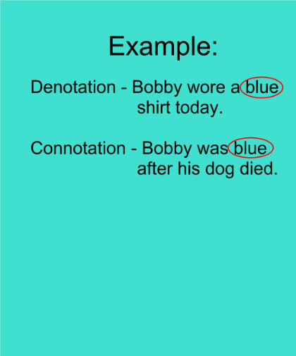 Denotation and Connotation essay sample