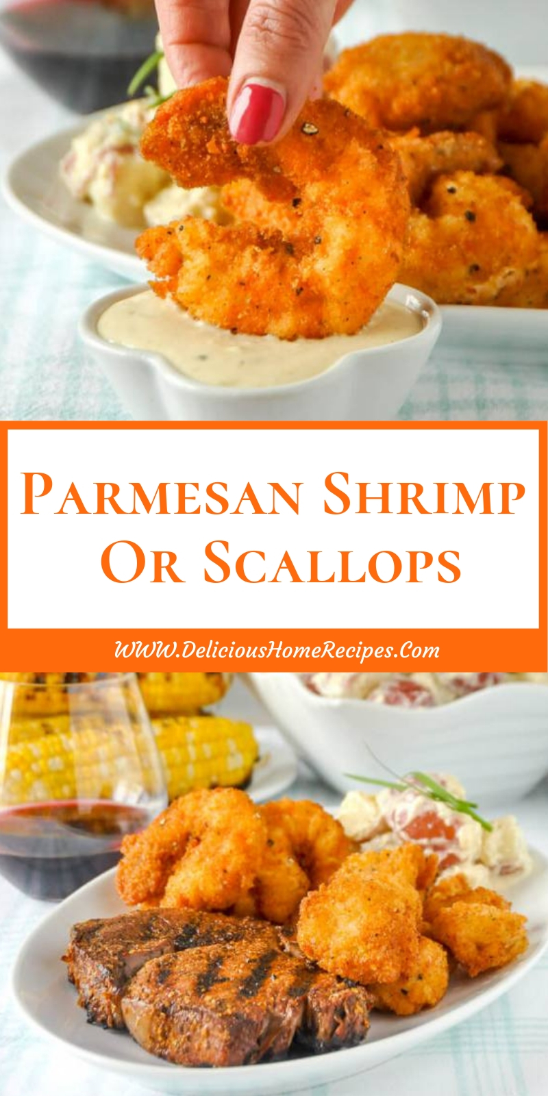 Parmesan Shrimp Or Scallops