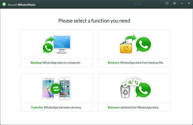 Jihosoft WhatsMate 1.0.9 Full (Recupera archivo de WhatsApp)