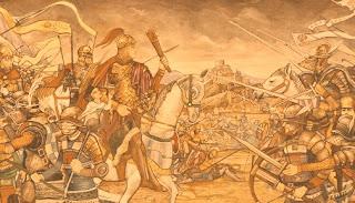 Selama periode abad gelap, di Eropa Barat tidak ada gaya khas yang mengalami perkembangan. Mundurnya peradaban Romawi berakibat kepada melemahnya usaha pengembangan gaya arsitektur orisinal. Kaum barbar, di negara Jerman, Slav, maupun Finno-Ugria, ketika itu maksimal hanya dapat membuat imitasi gaya arsitektur Romawi Barat yang sedang mengalami kemrosotan.