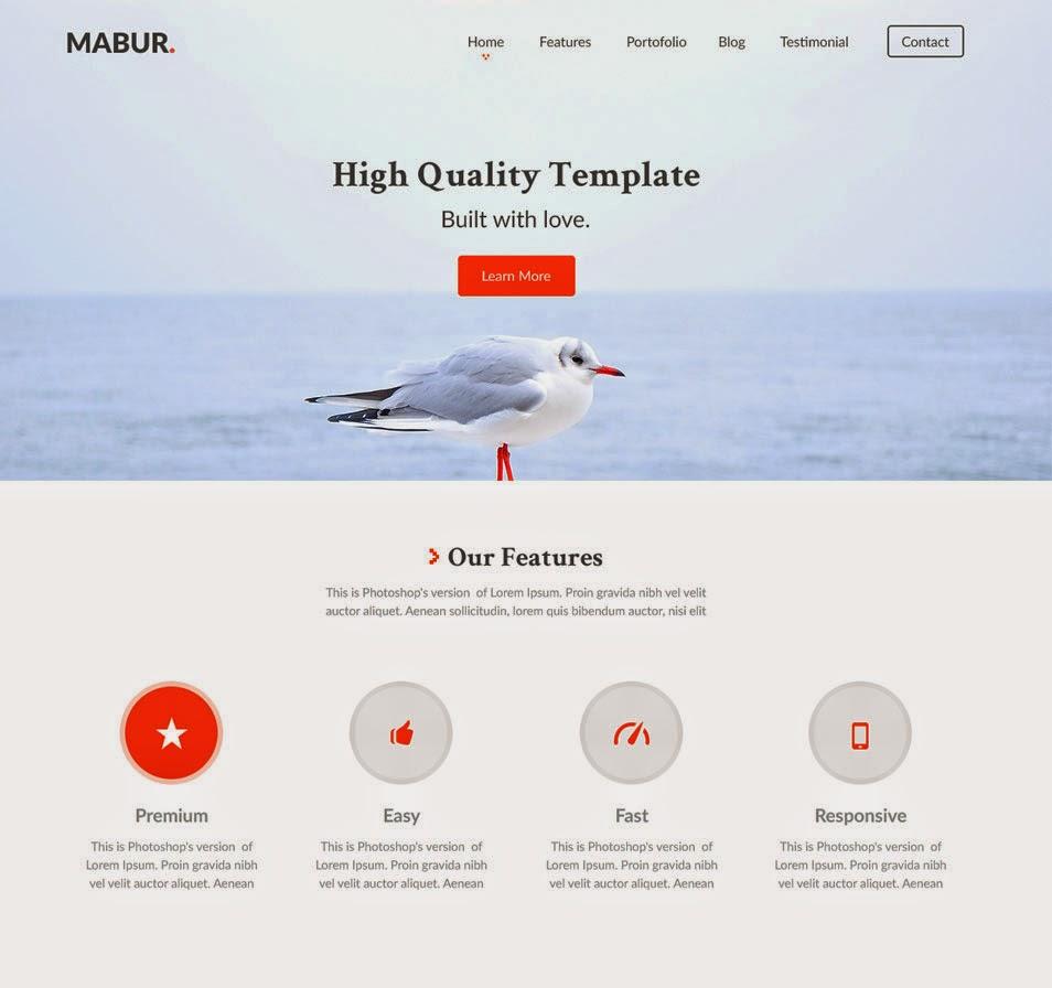 Mabur – Free Portofolio PSD