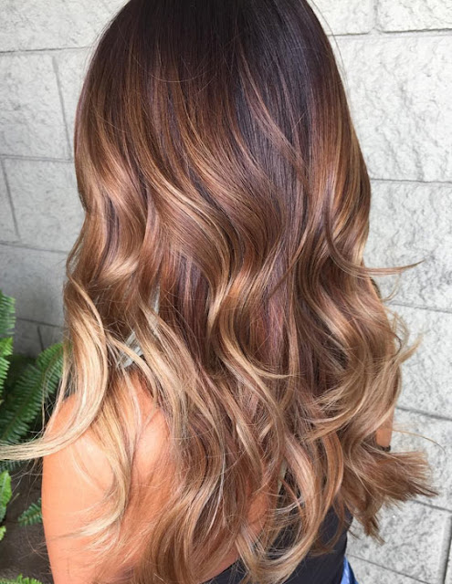 Auburn Honey Blonde Balayage