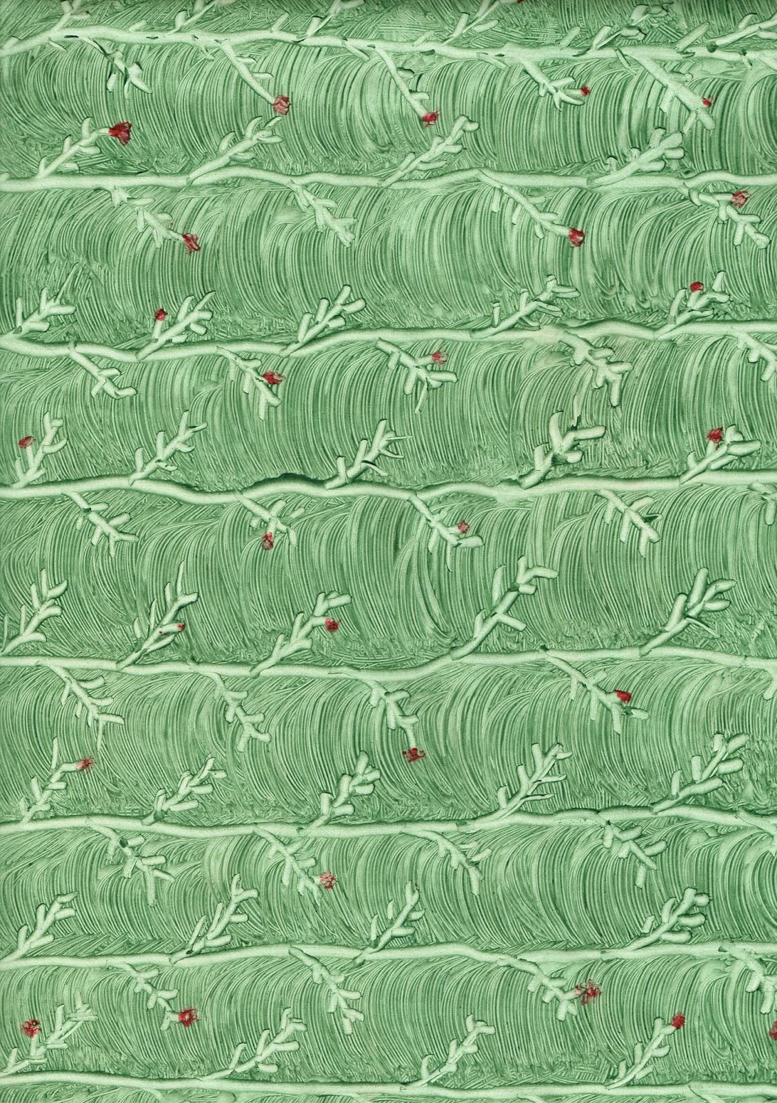 Papel al engrudo verde