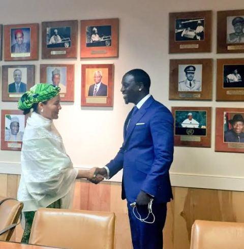 1 Photos: Akon visits Nigeria's Minister of Environment, Amina Mohammed in NY