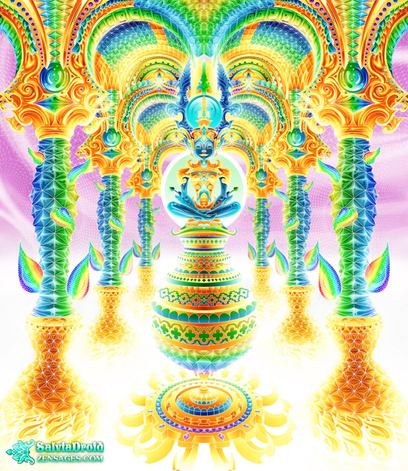 DMT-Inspired Art by SalviaDroid