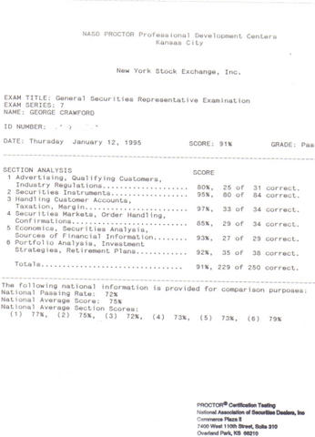 my series 7 test score