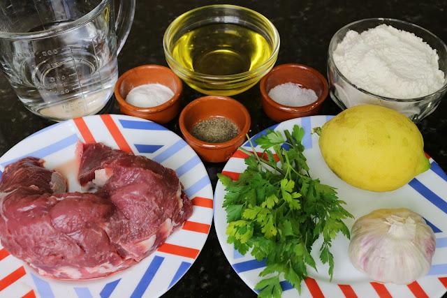 Ingredientes para delicias de solomillo