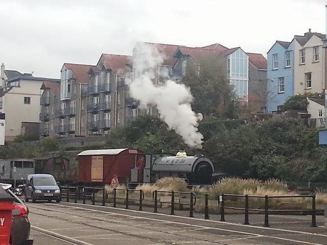 A working steam train