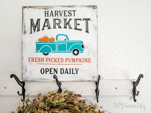 fall market sign