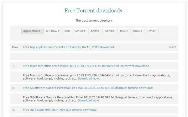Free php automatic torrent search script.
