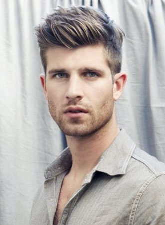 Short side - long on the top piece is a good option to reduce weight    Mens Haircut 2013 Summer
