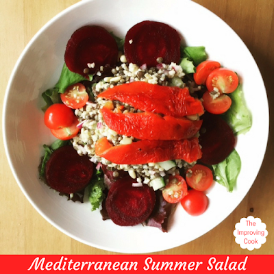 Mediterranean Summer Salad pinnable image