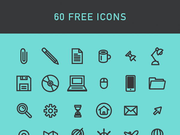 Download 60 Fixed Weight Icon Set Free