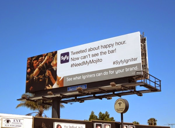 2014 Syfy Igniter happy hour billboard