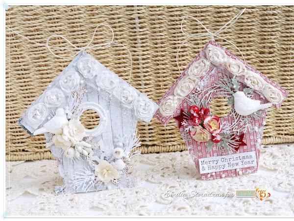 Christmas House Ornaments & Video Tutorial / Świąteczne Ozdoby Domki i Kurs Wideo