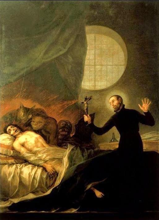 Saint François de Borgia procédant à un exorcisme