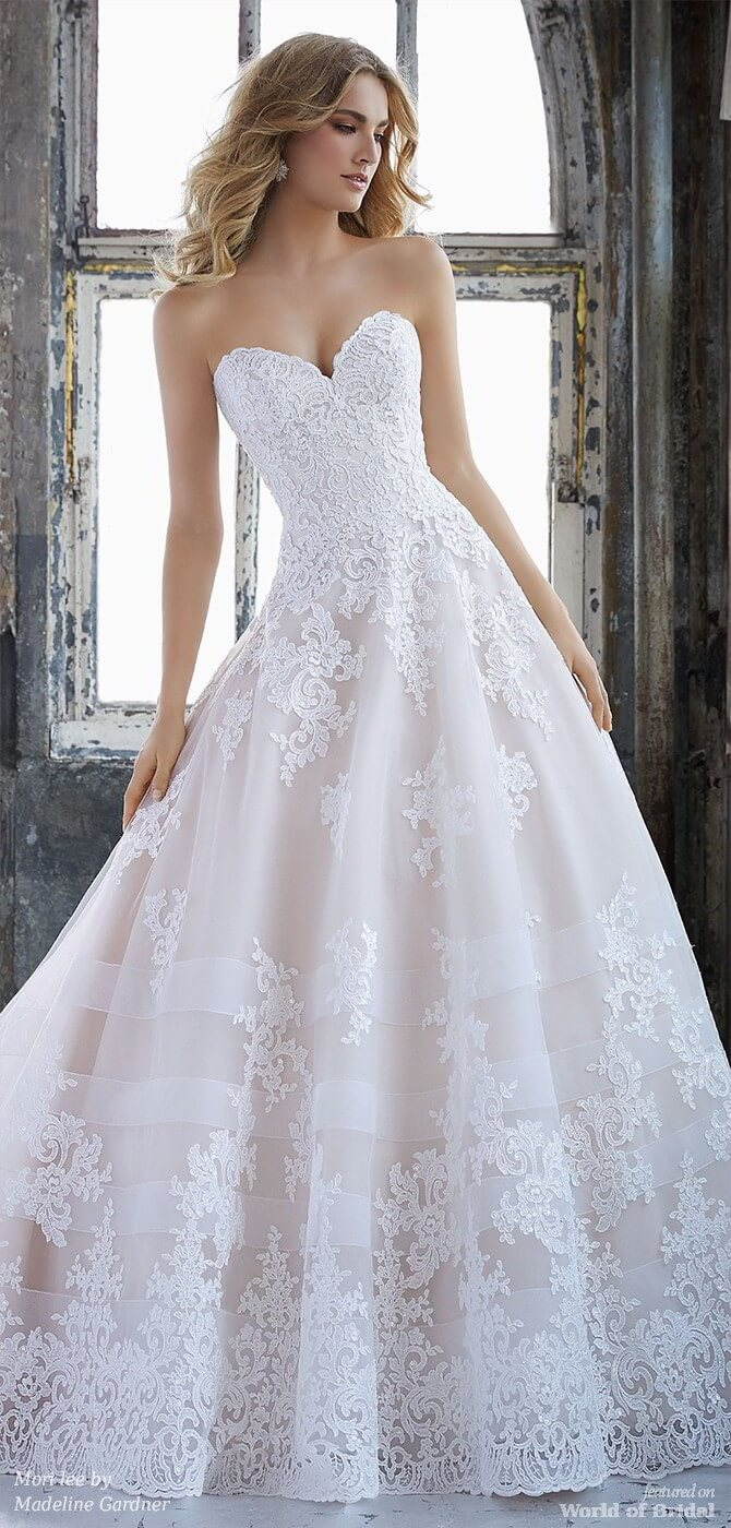 Mori lee by Madeline Gardner Spring 2018 Princess Bridal Ball Gown