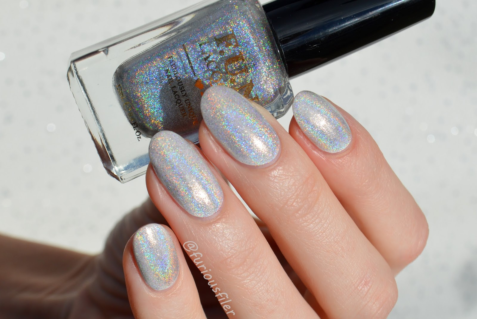 F.U.N. Lacquer Diamond Holo Top Coat: Swatches + Review - FURIOUS FILER