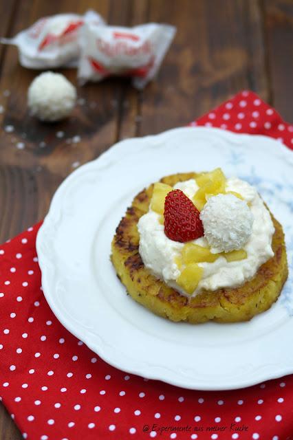 Experimente aus meiner Küche: Gegrillte Ananas mit Raffaelocreme