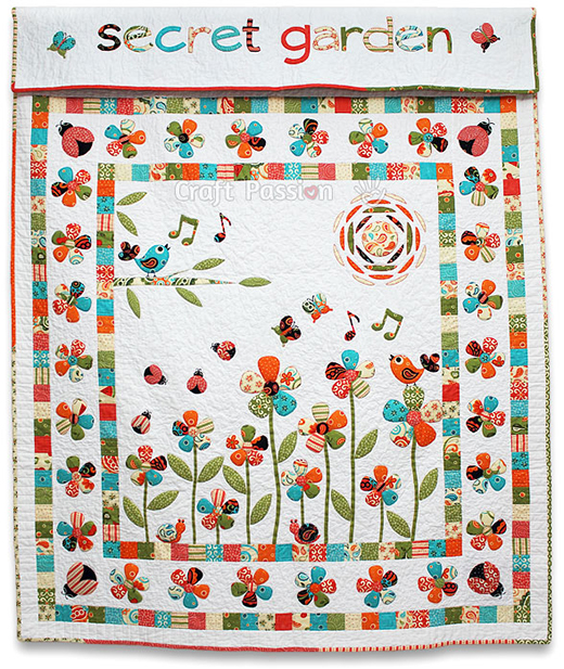Secret Garden Quilt Free Pattern designed by Joanne.L of Craft Passion