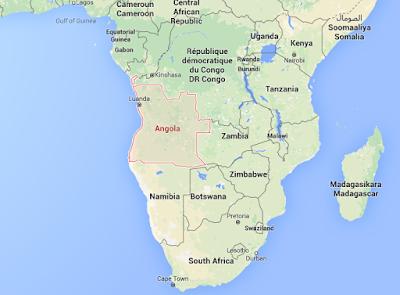 Gambar Peta negara Angola