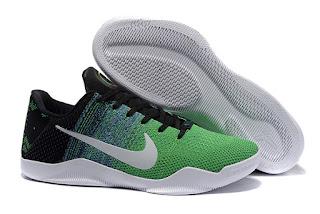Sepatu Basket Nike Zoom Kobe 11 Flyknit Green, harga basket nike, basket nike kobe ,nike kobe 11,nike kobe flyknit